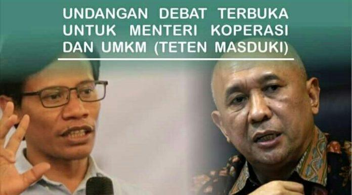 Suroto Tantang Debat Terbuka Menteri Koperasi dan UMKM RI Teten Masduki