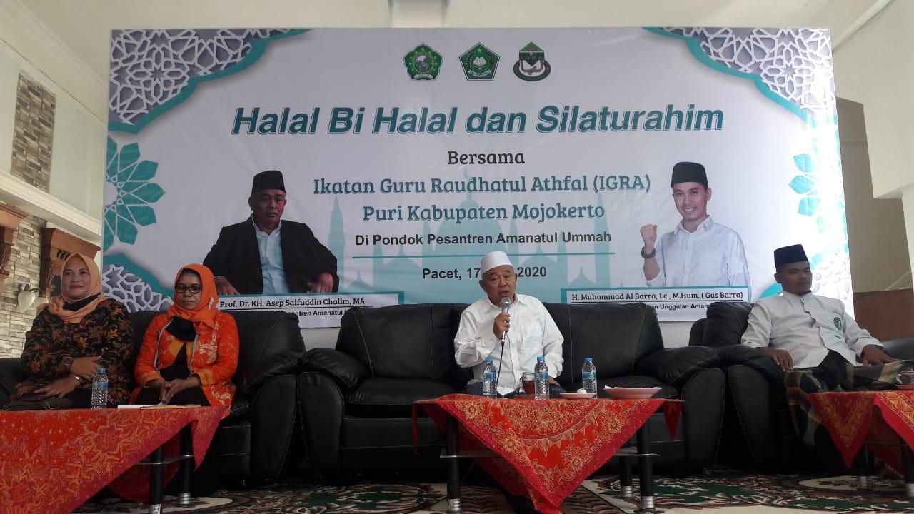 Saat acara Halal Bihalal dan Silaturrahmi Bersama Ikatan Guru Raudhatul Athfal (IGRA) Puri Mojokerto