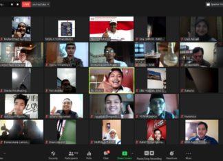 "Talkshow Nasional Pendidikan ""Dilema New Normal: Mampukah Merekonstruksi Sistem Pemdidikan ( Foto: Tangkap Layar/Beritabaru.co/Rizal Kurniawan)"