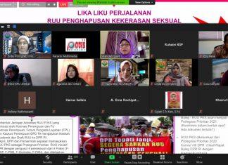 "Tangkap Layar Diskusi Online PSG UNEJ CARE dengan Tema ""RUU Pungkas sebagai Upaya untuk Menjaga Kemanusiaan"" pada Kamis, 27 Agustus 2020. (foto: Beritabaru.co)"