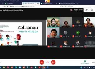 "Tangkap layar diskusi virtual ""Ngobrol Onlen2an Pusat Studi Kebudayaan Universitas Gadjah Mada (UGM). (Foto: Beritabaru.co/ Rizal Kurniawan)"