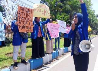 Korps Pergerakan Mahasiswa Islam Indonesia (Kopri) Mojokerto menggelar Kampanye mengenai penolakan kekerasan seksual