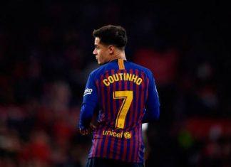 Philippe Coutinho mengalami cedera hamstring menjelang laga Barcelona vs Juventus