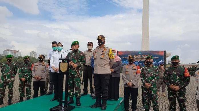 Panglima Kodam Jaya Mayjen TNI Dudung Abdurachman usai apel di Monas, Gambir, Jakarta Pusat, Jumat (20/11/2020).