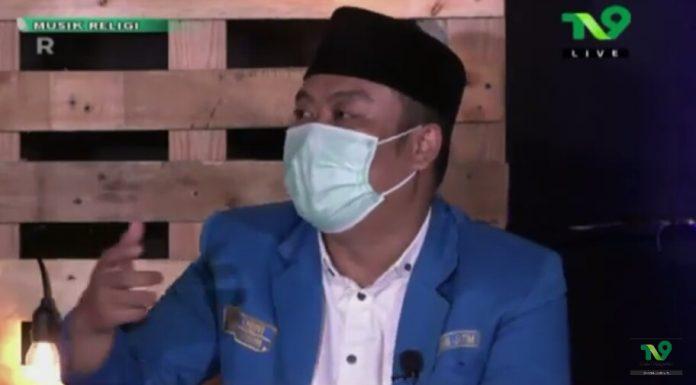 Saat Ketua PKC PMII Jatim, Abdul Ghoni dalam acara Milenial NU Menuju Indonesia Maju. (Dok. Foto: Tangkapan layar di chanel YouTube TV9 Official)