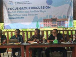 Forum Focus Group Discussion (FGD) dengan tema Praktik PPDB dan Analisis Biaya Pendidikan yang Bermutu. (Dok. Foto: Dewan Pendidikan Lamongan)
